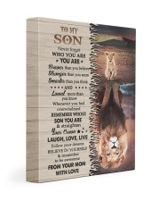 MOM TO SON GIFT LION BRAVER CROWN LAUGH LOVE LIVE 11x14 Gallery Wrapped Canvas Prints front