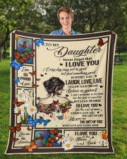 """MOM TO DAUGHTER GIFT OF YOU- LIVE LAUGH LOVE Fleece Blanket - 50"""" x 60"""" aos-coral-fleece-blanket-50x60-lifestyle-front-01a"""