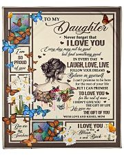 """MOM TO DAUGHTER GIFT OF YOU- LIVE LAUGH LOVE Fleece Blanket - 50"""" x 60"""" front"""