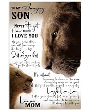 MOM TO SON GIFT- JUST DO YOUR BEST- LION 11x17 Poster front