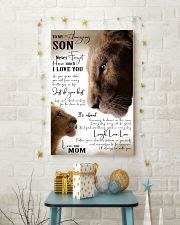 MOM TO SON GIFT- JUST DO YOUR BEST- LION 11x17 Poster lifestyle-holiday-poster-3