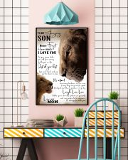 MOM TO SON GIFT- JUST DO YOUR BEST- LION 11x17 Poster lifestyle-poster-6