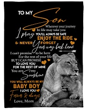 """MOM TO SON GIFT- LION- LOVE YOU -THE REST OF MINE Large Fleece Blanket - 60"""" x 80"""" front"""