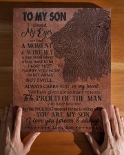 MOM TO SON GIFT - LION A MAN STOOD - PROUDEST 11x14 Gallery Wrapped Canvas Prints aos-canvas-pgw-11x14-lifestyle-front-32