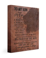 MOM TO SON GIFT - LION A MAN STOOD - PROUDEST 11x14 Gallery Wrapped Canvas Prints front