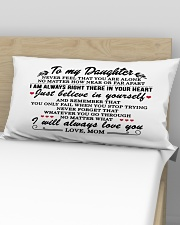 MOM TO DAUGHTER GIFT I'M ALWAYS IN YOUR HEART Rectangular Pillowcase aos-pillow-rectangular-front-lifestyle-02
