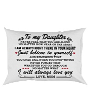 MOM TO DAUGHTER GIFT I'M ALWAYS IN YOUR HEART Rectangular Pillowcase back