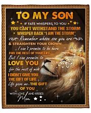"MOM TO SON GIFT LION FATE STORM STRAIGHTEN CROWN  Fleece Blanket - 50"" x 60"" front"