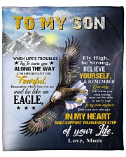 """MOM TO SON GIFT- EAGLE- FLY HIGH STRONG TRYING Fleece Blanket - 50"""" x 60"""" front"""