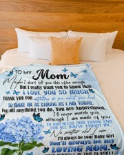 """DAUGHTER TO MOM GIFT- TAUGHT ME- MAKE ME STRONG Large Fleece Blanket - 60"""" x 80"""" aos-coral-fleece-blanket-60x80-lifestyle-front-02a"""