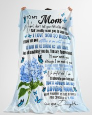 """DAUGHTER TO MOM GIFT- TAUGHT ME- MAKE ME STRONG Large Fleece Blanket - 60"""" x 80"""" aos-coral-fleece-blanket-60x80-lifestyle-front-10"""