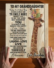GRANDMA TO GRANDDAUGHTER GIFT GIRAFFE SMILE MORE 11x14 Gallery Wrapped Canvas Prints aos-canvas-pgw-11x14-lifestyle-front-32