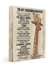 GRANDMA TO GRANDDAUGHTER GIFT GIRAFFE SMILE MORE 11x14 Gallery Wrapped Canvas Prints front