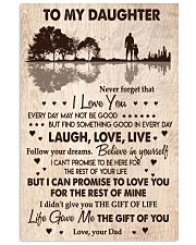 DAD TO DAUGHTER GIFT -GUITAR- THE GIFT OF LIFE YOU 11x17 Poster front