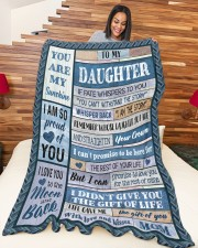"""MOM TO DAUGHTER GIFT- I AM THE STORM- CROWN Large Fleece Blanket - 60"""" x 80"""" aos-coral-fleece-blanket-60x80-lifestyle-front-04a"""