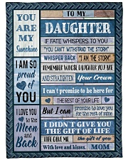 """MOM TO DAUGHTER GIFT- I AM THE STORM- CROWN Large Fleece Blanket - 60"""" x 80"""" front"""