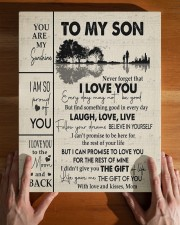 MOM TO SON GIFT GUITAR LIVE LAUGH LOVE 11x14 Gallery Wrapped Canvas Prints aos-canvas-pgw-11x14-lifestyle-front-32