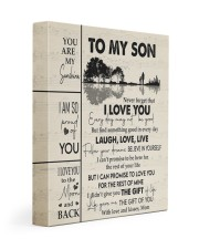 MOM TO SON GIFT GUITAR LIVE LAUGH LOVE 11x14 Gallery Wrapped Canvas Prints front