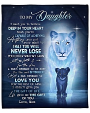 """MOM TO DAUGHTER GIFT- LION GO FORTH AIM THE SKIES Fleece Blanket - 50"""" x 60"""" front"""
