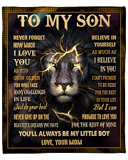 """MOM TO SON GIFT LION NEVER GIVE UP - DO YOUR BEST Fleece Blanket - 50"""" x 60"""" front"""
