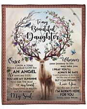 """MOM TO DAUGHTER GIFT DEER ANGEL ENERGY HAPPINESS Fleece Blanket - 50"""" x 60"""" front"""