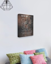 MOM TO SON GIFT LION FOLLOW YOUR DREAMS - LAUGH 11x14 Gallery Wrapped Canvas Prints aos-canvas-pgw-11x14-lifestyle-front-02