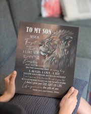 MOM TO SON GIFT LION FOLLOW YOUR DREAMS - LAUGH 11x14 Gallery Wrapped Canvas Prints aos-canvas-pgw-11x14-lifestyle-front-25