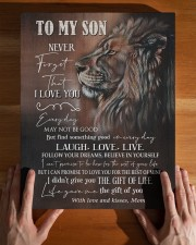 MOM TO SON GIFT LION FOLLOW YOUR DREAMS - LAUGH 11x14 Gallery Wrapped Canvas Prints aos-canvas-pgw-11x14-lifestyle-front-32