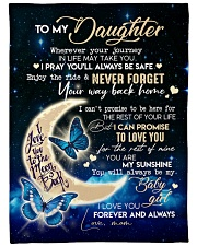 """MOM TO DAUGHTER GIFT- BUTTERFLY- ENJOY THE RIDE Large Fleece Blanket - 60"""" x 80"""" front"""