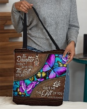 MOM TO DAUGHTER GIFT- BUTTERFLY- GIFT OF LIFE All-over Tote aos-all-over-tote-lifestyle-front-10