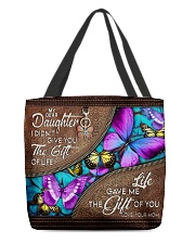 MOM TO DAUGHTER GIFT- BUTTERFLY- GIFT OF LIFE All-over Tote front