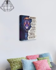 MOM TO DAUGHTER GIFT BELIEVE STRAIGHTEN CROWN LION 11x14 Gallery Wrapped Canvas Prints aos-canvas-pgw-11x14-lifestyle-front-02