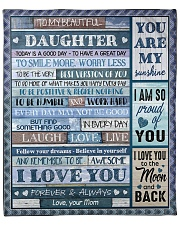"""MOM TO DAUGHTER GIFT TODAY IS A GOOD DAY - SMILE Fleece Blanket - 50"""" x 60"""" front"""