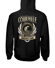 C-O-U-R-V-I-L-L-E k1 Hooded Sweatshirt back