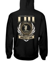 L-I-U k1 Hooded Sweatshirt back