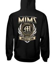 M-I-M-S X1 Hooded Sweatshirt back