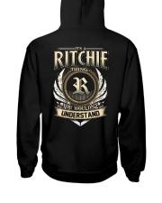 R-I-T-C-H-I-E X1 Hooded Sweatshirt back