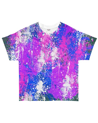 Paint splash with pink purple blue and white
