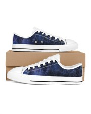 Night sky stars and galaxies Women's Low Top White Shoes thumbnail