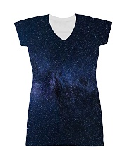Night sky stars and galaxies All-over Dress thumbnail