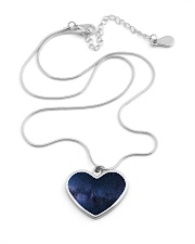 Night sky stars and galaxies Metallic Heart Necklace aos-necklace-heart-metallic-lifestyle-03