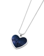 Night sky stars and galaxies Metallic Heart Necklace aos-necklace-heart-metallic-lifestyle-04
