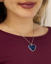 Night sky stars and galaxies Metallic Heart Necklace aos-necklace-heart-metallic-lifestyle-1
