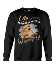 Life is better with a woof Crewneck Sweatshirt thumbnail