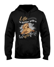 Life is better with a woof Hooded Sweatshirt thumbnail