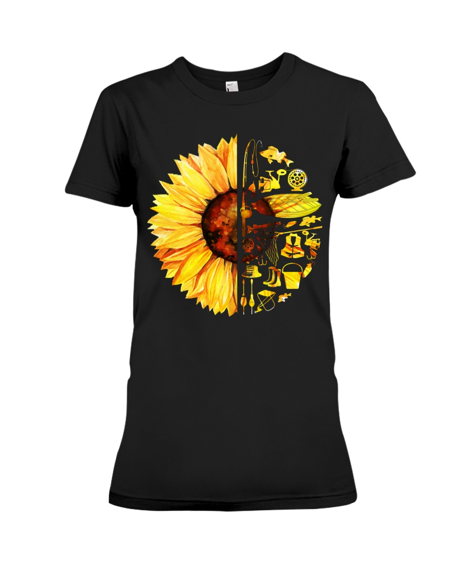 FISHING SUNFLOWER- LIMITED EDITION Premium Fit Ladies Tee