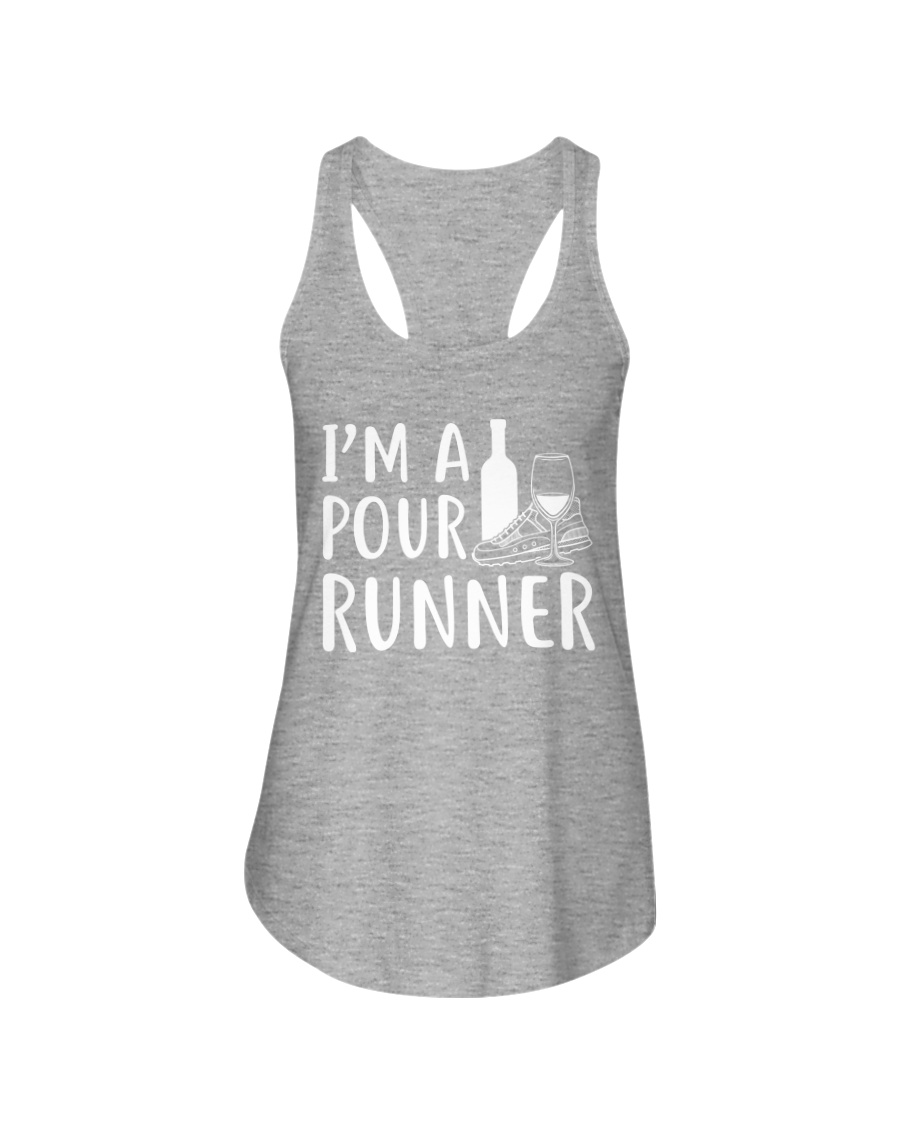 I'M A POUR RUNNER - RUNNING SHIRTS Ladies Flowy Tank