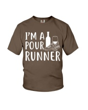 I'M A POUR RUNNER - RUNNING SHIRTS Youth T-Shirt front