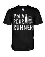 I'M A POUR RUNNER - RUNNING SHIRTS V-Neck T-Shirt thumbnail
