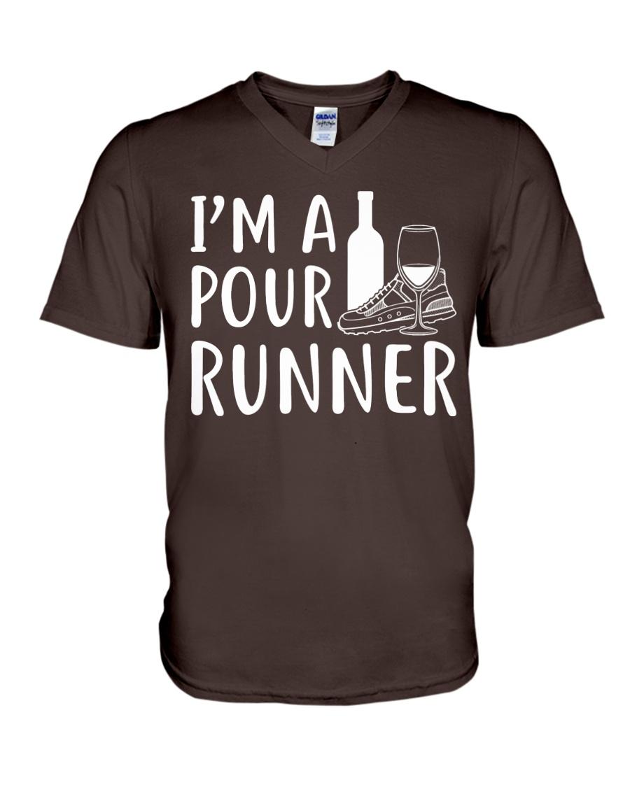 I'M A POUR RUNNER - RUNNING SHIRTS V-Neck T-Shirt